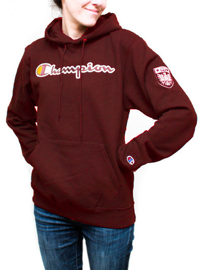 Champion Hooded Sweatshirt with McMaster Crest