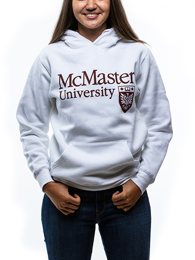 Classic Official Crest Hooded Sweatshirt - White