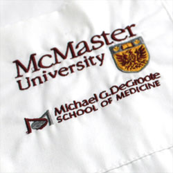 Michael G. DeGroote School of Medicine Embroidered Logo