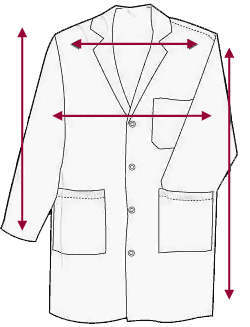 Lab Coat Measurement Chart